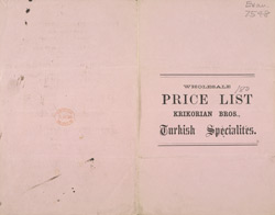 Advert For Krikorian Brothers, Turkish Specialists